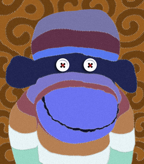 Faux applique monkey