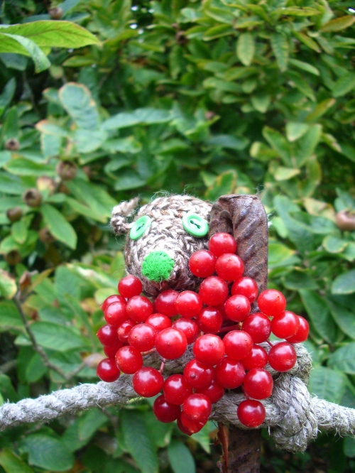 Hootie tucks in to a bunch of berries